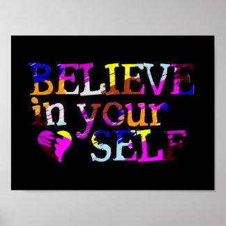 Crea en sí mismo la cartera posters