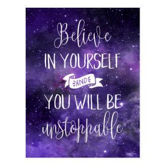 Crea en sí mismo la cita postales