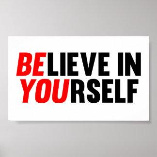 Crea en sí mismo poster