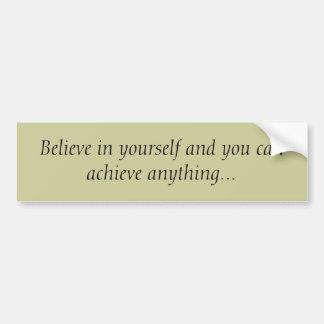 Crea en sí mismo… pegatina para auto