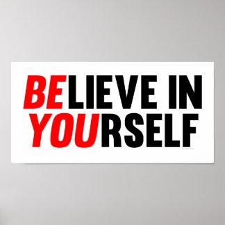 Crea en sí mismo póster