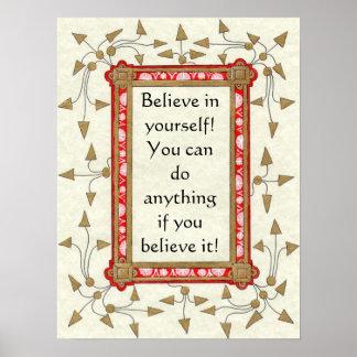 ¡Crea en sí mismo! Poster