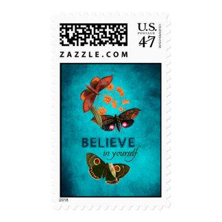 Crea en sí mismo sello postal