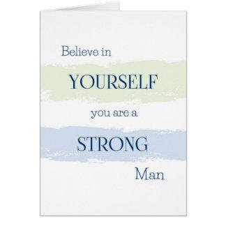 Crea en sí mismo, usted son una tarjeta del hombre