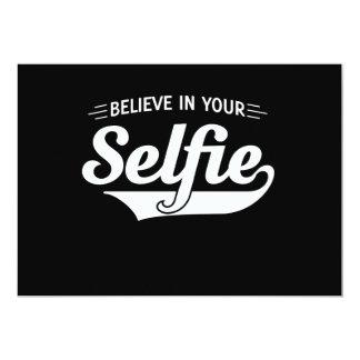 """Crea en su Selfie Invitación 5"""" X 7"""""""
