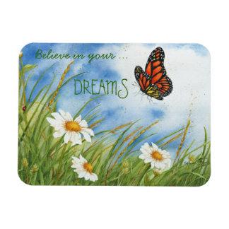 Crea en su sueño - mariposa de monarca - imán