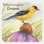 Crea en sus sueños - pegatinas calcomanías cuadradas personalizadas