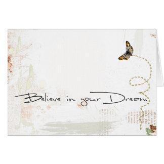 crea en sus sueños tarjeta de felicitación