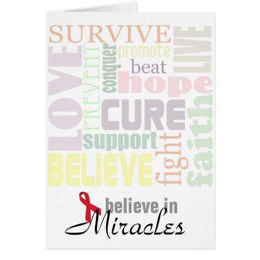Crea en tarjeta de la inspiración de los milagros