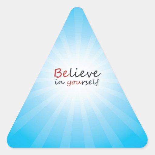 Crea en yourslef pegatina triangular