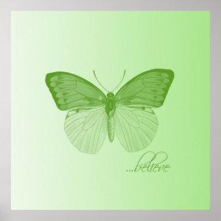 Crea la cal de la mariposa poster