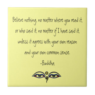 Crea la cita de Nada-Buda Azulejo Cuadrado Pequeño