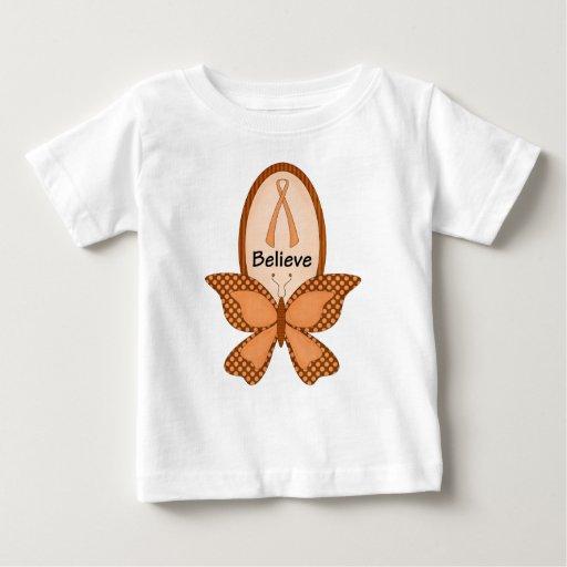 Crea la conciencia anaranjada camiseta