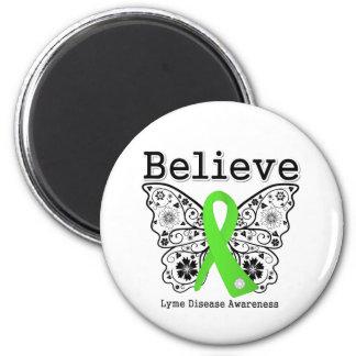 Crea la conciencia de la enfermedad de Lyme Imán Redondo 5 Cm