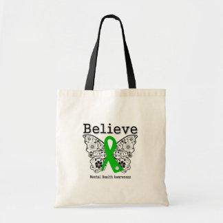 Crea la conciencia de la salud mental bolsas lienzo
