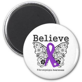 Crea la conciencia del Fibromyalgia Imán Redondo 5 Cm