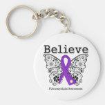 Crea la conciencia del Fibromyalgia Llavero Personalizado