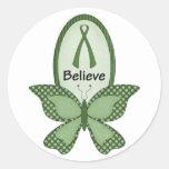 Crea la conciencia verde etiquetas redondas