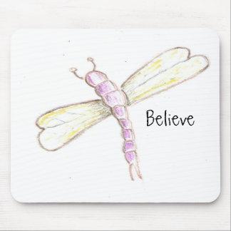 Crea la libélula Mousepad Alfombrillas De Ratones