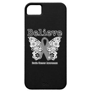 Crea - la mariposa del cáncer de cerebro iPhone 5 funda