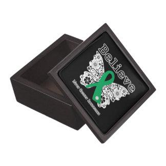 Crea - la mariposa del cáncer de hígado cajas de joyas de calidad