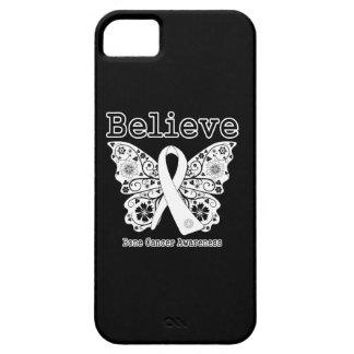 Crea - la mariposa del cáncer de hueso funda para iPhone 5 barely there
