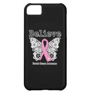Crea - la mariposa del cáncer de pecho funda para iPhone 5C