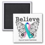 Crea - la mariposa del cáncer de tiroides iman