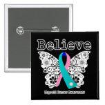 Crea - la mariposa del cáncer de tiroides pin