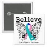 Crea - la mariposa del cáncer de tiroides pins