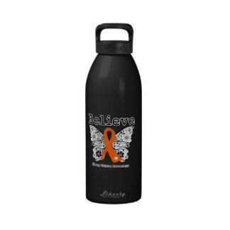 Crea - la mariposa del cáncer del riñón (el naranj botella de agua reutilizable