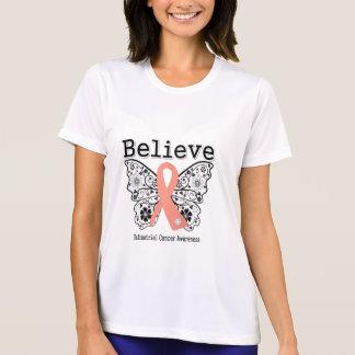 Crea - la mariposa del cáncer endometrial camisetas