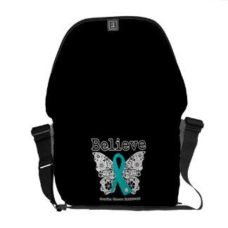 Crea - la mariposa del cáncer ovárico bolsa de mensajería