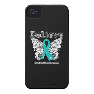 Crea - la mariposa del cáncer ovárico iPhone 4 Case-Mate coberturas