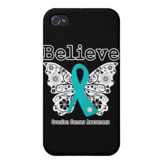 Crea - la mariposa del cáncer ovárico iPhone 4 carcasa
