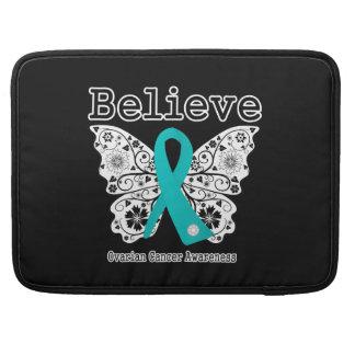 Crea - la mariposa del cáncer ovárico funda para macbooks
