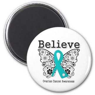 Crea - la mariposa del cáncer ovárico imán para frigorifico