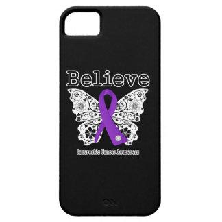 Crea - la mariposa del cáncer pancreático iPhone 5 fundas