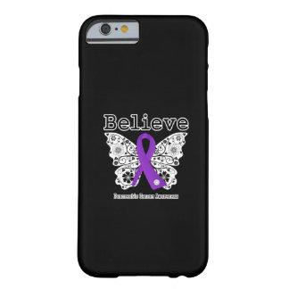 Crea - la mariposa del cáncer pancreático funda para iPhone 6 barely there