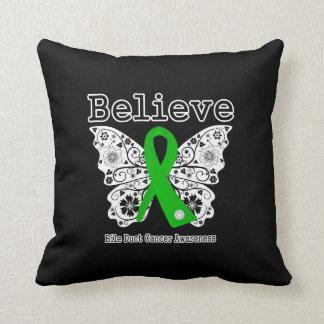 Crea - la mariposa hepática del cáncer cojines