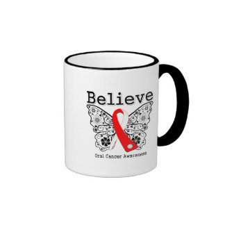 Crea - la mariposa oral del cáncer taza de café