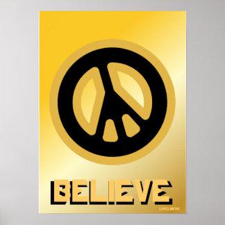 Crea la paz interna verdadera - cartel Cust Poster