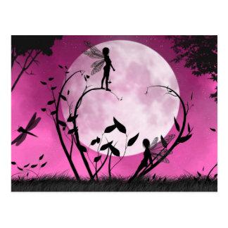 Crea la postal de la hada del claro de luna