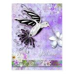 Crea la postal del colibrí