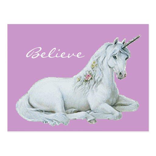 Crea la postal del unicornio