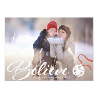 Crea la tarjeta de la foto del navidad invitación 12,7 x 17,8 cm