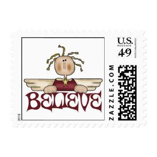 Crea los sellos del ángel del navidad