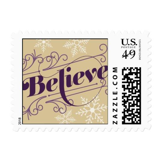 Crea - púrpura y oro sellos postales
