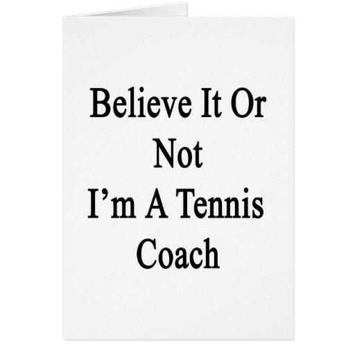 Crea que o no yo es coche de tenis tarjetas