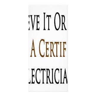 Crea que o no yo es electricista certificado lonas publicitarias